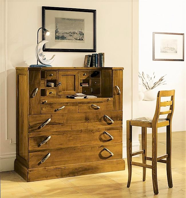 Solid wood dresser with drawers