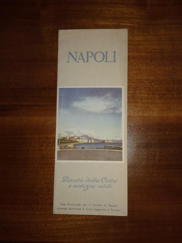 Depliant/opuscolo NAPOLI vintage guida turistica MAISON CIELO VENEZIA -