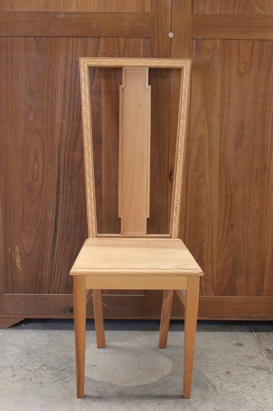 Sedie In Legno Massiccio.Sedia In Legno Massiccio 115h 44l 39 5p Maison Cielo Venezia