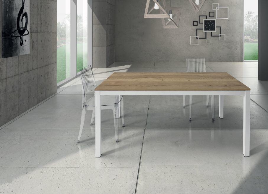 Tavolo rovere nodato allungabile 843 sedia trasparente 694 quadrata 695 rotonda maison cielo - Tavolo trasparente allungabile ...